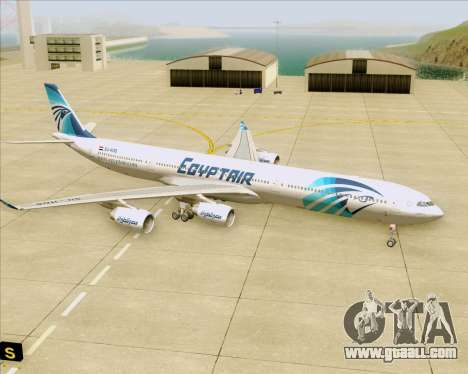 Airbus A340-600 EgyptAir for GTA San Andreas bottom view