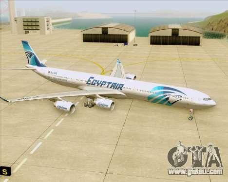 Airbus A340-600 EgyptAir for GTA San Andreas bottom view