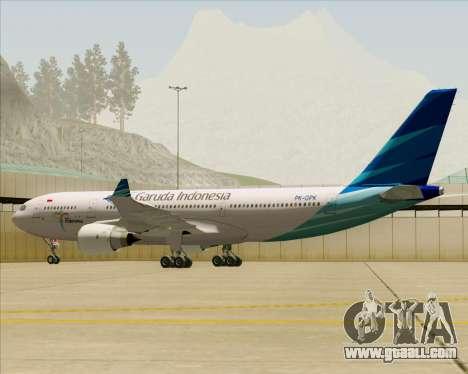 Airbus A330-243 Garuda Indonesia for GTA San Andreas wheels
