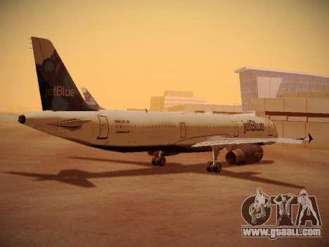 Airbus A321-232 jetBlue La vie en Blue for GTA San Andreas right view