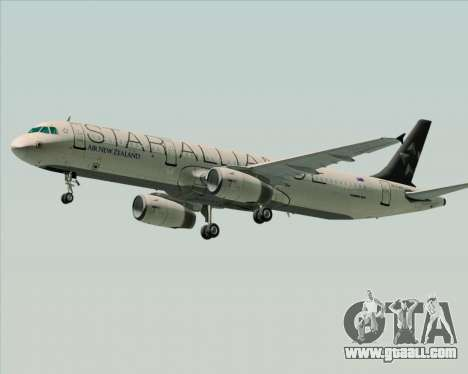 Airbus A321-200 Air New Zealand (Star Alliance) for GTA San Andreas back left view