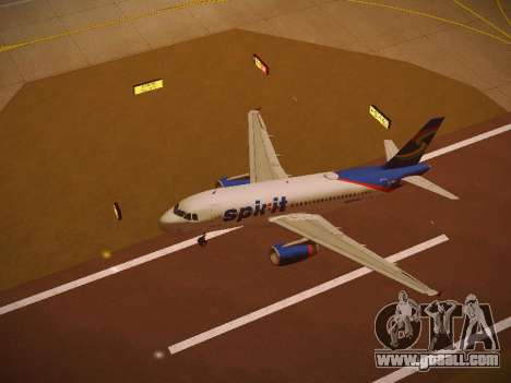 Airbus A319-132 Spirit Airlines for GTA San Andreas interior