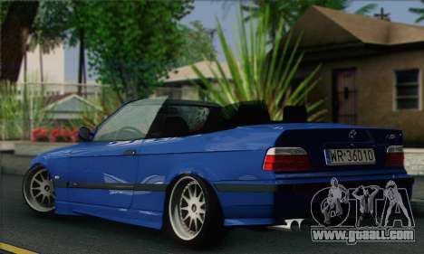 BMW M3 E36 Cabrio for GTA San Andreas left view