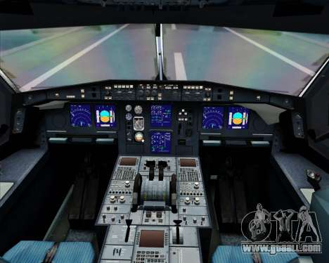 Airbus A340-600 EgyptAir for GTA San Andreas interior