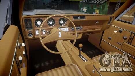 Oldsmobile Vista Cruiser 1972 Rims1 Tree2 for GTA 4 back view