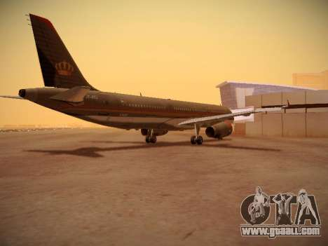 Airbus A321-232 Royal Jordanian Airlines for GTA San Andreas right view