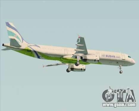 Airbus A321-200 Air Busan for GTA San Andreas right view
