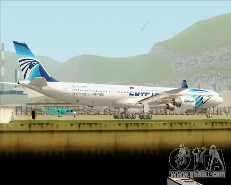 Airbus A340-600 EgyptAir for GTA San Andreas upper view