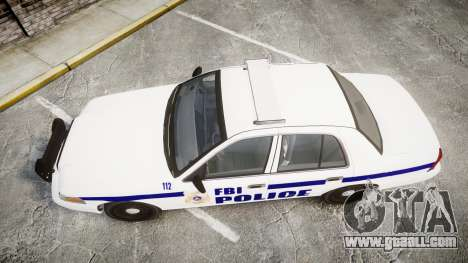 Ford Crown Victoria F.B.I. Police [ELS] for GTA 4 right view