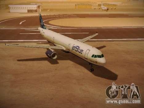 Airbus A321-232 jetBlue La vie en Blue for GTA San Andreas left view