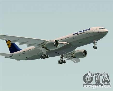 Airbus A330-200 Lufthansa for GTA San Andreas wheels