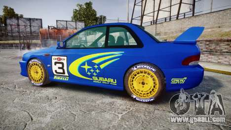Subaru Impreza WRC 1998 World Rally for GTA 4 left view