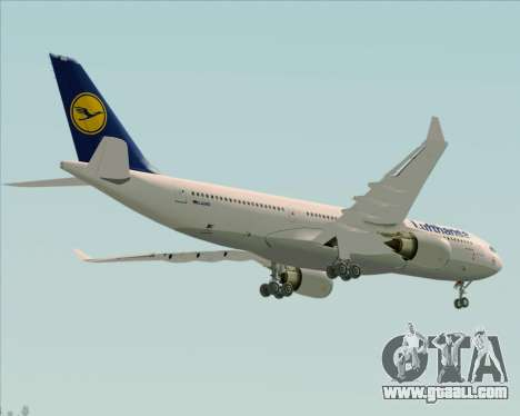 Airbus A330-200 Lufthansa for GTA San Andreas side view