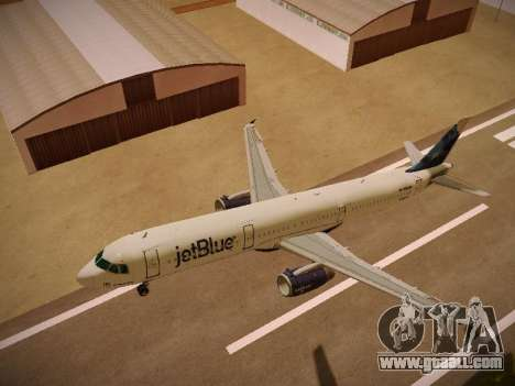 Airbus A321-232 jetBlue La vie en Blue for GTA San Andreas interior