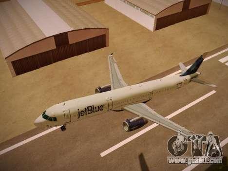 Airbus A321-232 jetBlue La vie en Blue for GTA San Andreas interior
