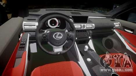 Lexus IS 350 F-Sport 2014 Rims2 for GTA 4 inner view