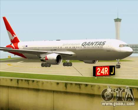Boeing 767-300ER Qantas (New Colors) for GTA San Andreas left view