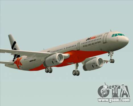 Airbus A321-200 Jetstar Airways for GTA San Andreas right view