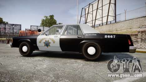 Ford LTD Crown Victoria 1987 Police CHP2 [ELS] for GTA 4 left view