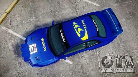Subaru Impreza WRC 1998 Rally v3.0 Yellow for GTA 4 right view