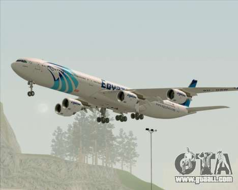 Airbus A340-600 EgyptAir for GTA San Andreas right view