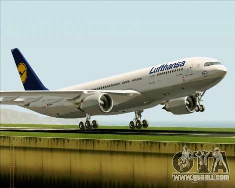 Airbus A330-200 Lufthansa for GTA San Andreas interior