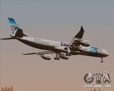 Airbus A340-600 EgyptAir for GTA San Andreas back view