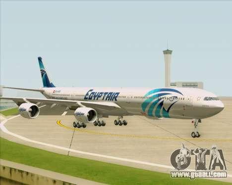 Airbus A340-600 EgyptAir for GTA San Andreas inner view