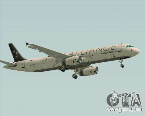 Airbus A321-200 Air New Zealand (Star Alliance) for GTA San Andreas back view