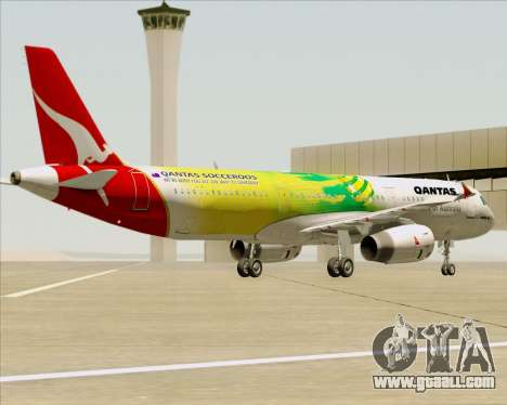 Airbus A321-200 Qantas (Socceroos Livery) for GTA San Andreas wheels