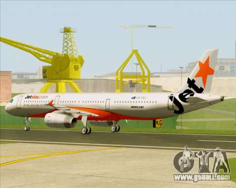 Airbus A321-200 Jetstar Airways for GTA San Andreas back view