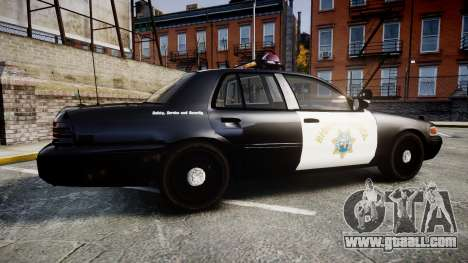 Ford Crown Victoria CHP CVPI Vision [ELS] for GTA 4 left view