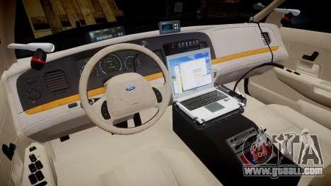 Ford Crown Victoria CHP CVPI Slicktop [ELS] for GTA 4 back view