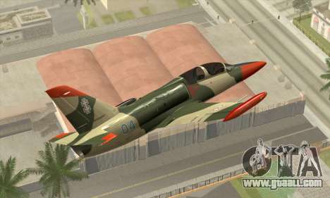 Aero L-39C for GTA San Andreas back left view