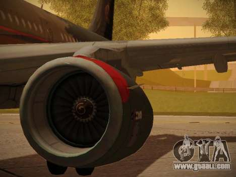 Airbus A321-232 Royal Jordanian Airlines for GTA San Andreas wheels