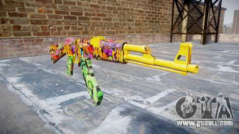 АК-47 graffiti camo for GTA 4