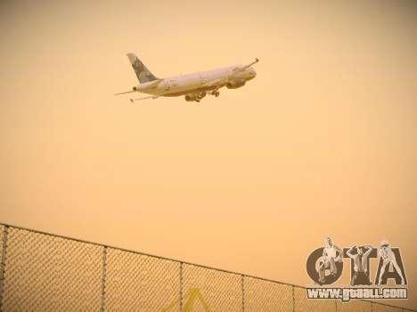 Airbus A321-232 jetBlue La vie en Blue for GTA San Andreas back view