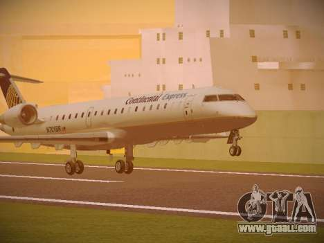 Bombardier CRJ-700 Continental Express for GTA San Andreas left view