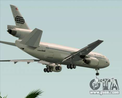 McDonnell Douglas DC-10-30 World Airways for GTA San Andreas upper view