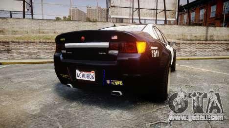GTA V Cheval Fugitive LS Police [ELS] Slicktop for GTA 4 back left view