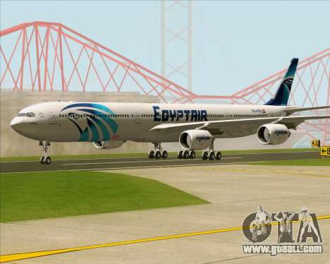 Airbus A340-600 EgyptAir for GTA San Andreas back left view