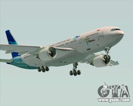 Airbus A330-243 Garuda Indonesia for GTA San Andreas interior