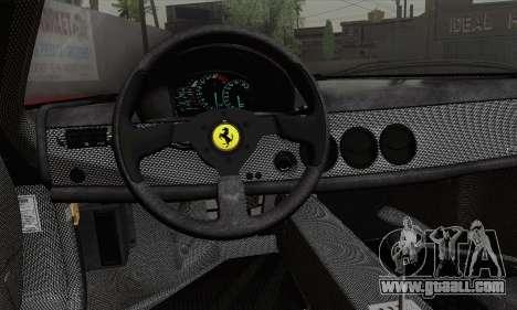 Ferrari F50 1995 Autovista for GTA San Andreas back left view