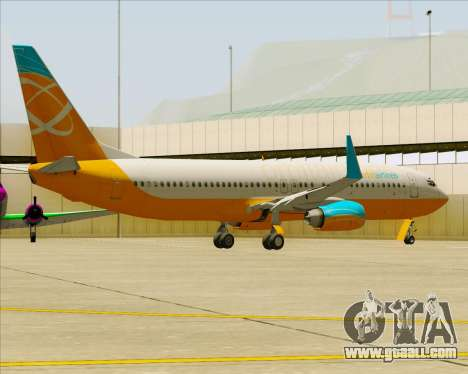 Boeing 737-800 Orbit Airlines for GTA San Andreas wheels