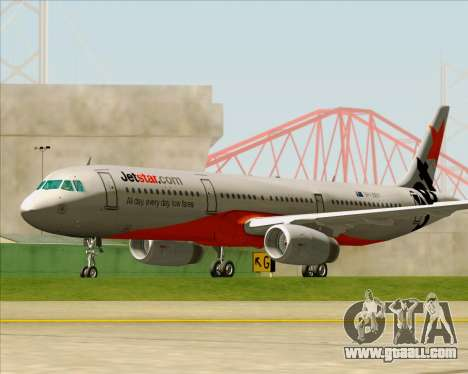 Airbus A321-200 Jetstar Airways for GTA San Andreas upper view