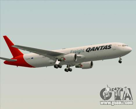 Boeing 767-300F Qantas Freight for GTA San Andreas inner view