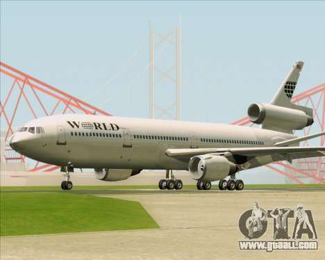 McDonnell Douglas DC-10-30 World Airways for GTA San Andreas back view