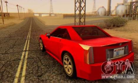 Cadillac XLR for GTA San Andreas left view