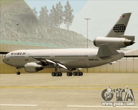 McDonnell Douglas DC-10-30 World Airways for GTA San Andreas engine