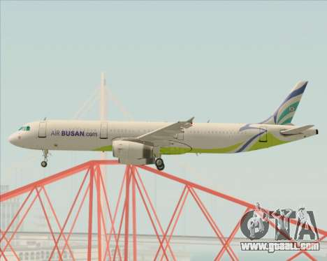 Airbus A321-200 Air Busan for GTA San Andreas inner view